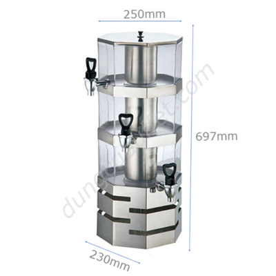 kích thước Bình đựng nước hoa quả nóng lạnh 16 lít bát giác BC2226-3