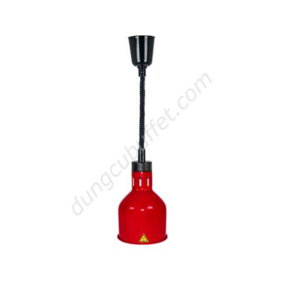 Đèn giữ nóng thức ăn buffet treo trần inox màu đỏ DA2507