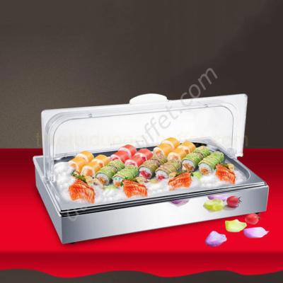 Khay đựng thức ăn lạnh inox chữ nhật 1 ngăn KB1140-1
