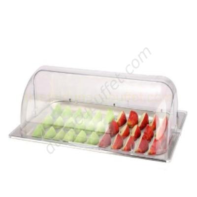 Khay đựng thức ăn inox chữ nhật có nắp PC KB2701-20