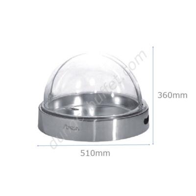 kích thước Khay inox đựng thức ăn buffet tròn nắp PC KB3309