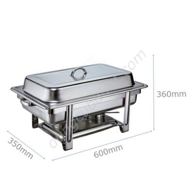 Kích thước Nồi hâm buffet chữ nhật giá rẻ 3 ngăn nắp rời NF2111-3