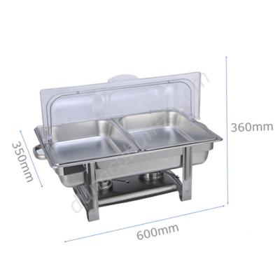 Kích thước Nồi hâm buffet chữ nhật giá rẻ 2 ngăn nắp PC NF2112-2