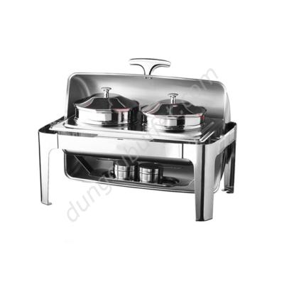 Nồi hâm soup buffet chữ nhật nắp mở 180 độ NF2117-S