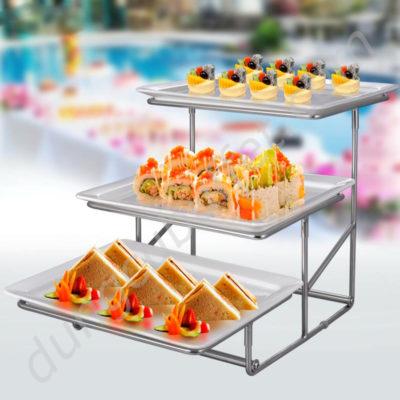 Kệ trưng bày buffet 3 tầng KB27-T20