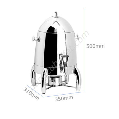 Kích thước Bình hâm cà phê inox dung tích 12 lít AT80012