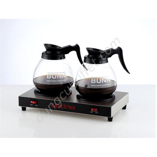 Bếp và bình hâm nóng cà phê