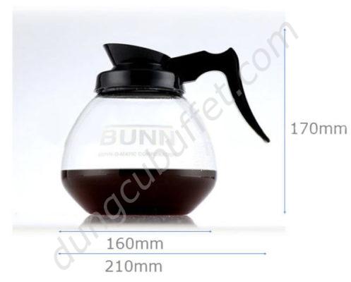 Kích thước Bình thủy tinh đựng cà phê BUNN CF2306