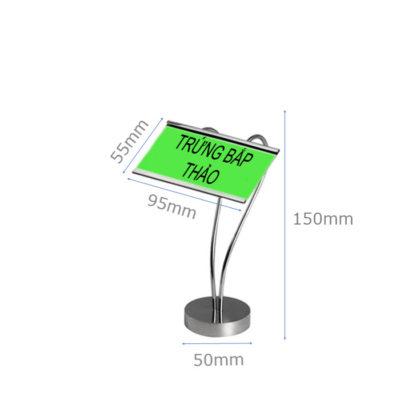 Kích thước Kẹp menu để bàn cao 150 hình tim CM66-150