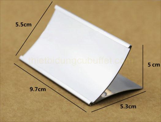 Kích thước Bảng tên món ăn buffet chữ L inox CM6605