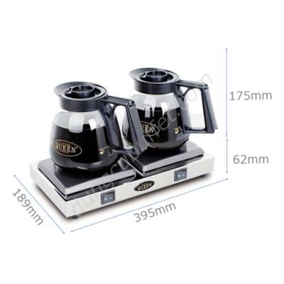 Kích thước Bộ bếp hâm cafe bình thuỷ tinh Queen Coffee CQB-2
