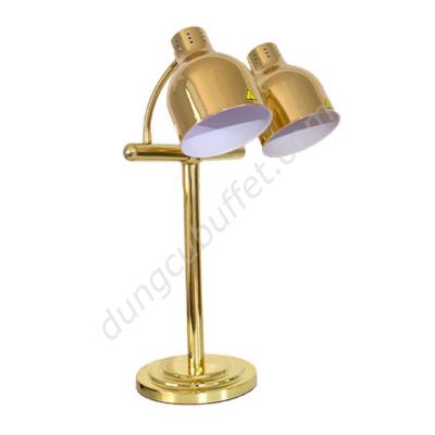 Đèn hâm nóng buffet 2 bóng inox mạ vàng DA2537-2