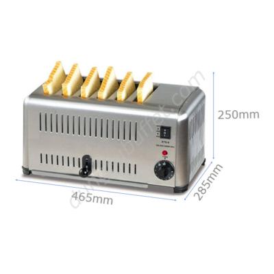 kích thước Máy nướng bánh mì sandwich Toaster 6 ngăn ETS-6