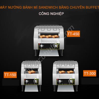 Mô tả Máy nướng bánh mì băng chuyền