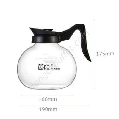 Kích thước Bình thủy tinh đựng cà phê Kinox XT2002