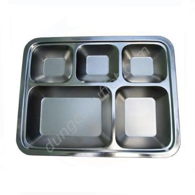 Khay đựng cơm 5 ngăn inox 304 KC2929-304