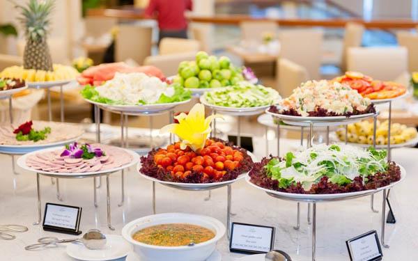 Các món buffet sáng khách sạn