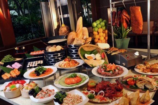 Thực đơn buffet sáng khách sạn