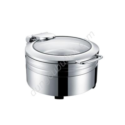 Nồi buffet tròn inox 304 nắp kính thủy lực dùng điện NF2171