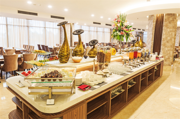 Quầy buffet nhà hàng cao cấp