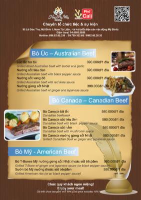 tên các món ăn Au bằng tiếng Anh