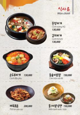 tên các món ăn Hàn Quốc bằng tiếng Anh
