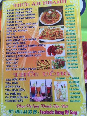 tên các món ăn nhanh bằng tiếng Anh