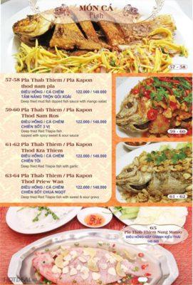 tên các món ăn Thái Lan bằng tiếng Anh