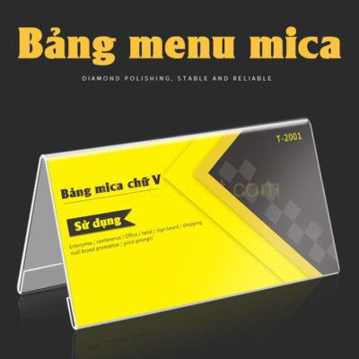 Bảng tên món ăn buffet mica chữ A CM6601