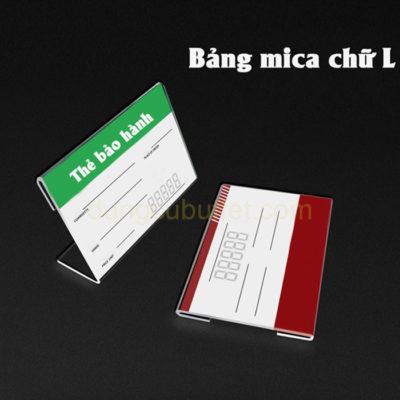 Bảng tên món ăn buffet mica chữ L CM6602
