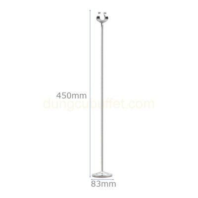 Kích thước Cây menu kẹp số bàn tiệc cao 450 mm CM6645